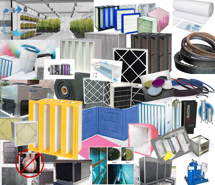 HVAC and industrial filter supplies